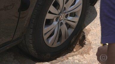 Buraco na estrada pode danificar até pneus novos - Buraco na estrada pode danificar até pneus novos