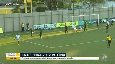 7b8091fb2c8fe 2 min. Tudo igual  Bahia de Feira e Vitória empatam pelo Campeonato Baiano