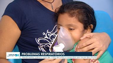 Número de casos de doenças respiratórias dobra durante época de chuvas em Manaus - Aumento reflete diretamente no atendimento médico público da capital.