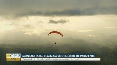 Montanhistas conseguem realizar voo de parapente em ponto mais alto do Brasil - Acompanhe a aventura no Pico da Neblina.