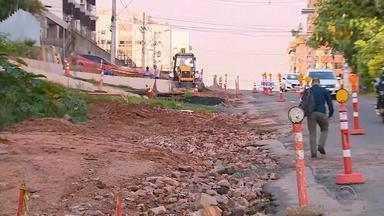 Obras da trincheira da avenida Anita Garibaldi são retomadas nesta terça-feira (12) - Assista ao vídeo.