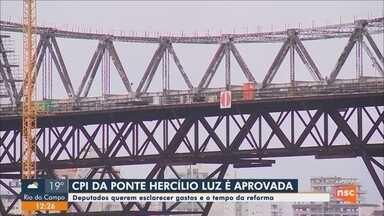 Presidente da Alesc aprova criação da CPI da Ponte Hercílio Luz, em Florianópolis - Presidente da Alesc aprova criação da CPI da Ponte Hercílio Luz, em Florianópolis