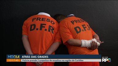 Polícia prende dois suspeitos de assaltos na região de Curitiba - Com eles, a polícia ainda encontrou um carro roubado.
