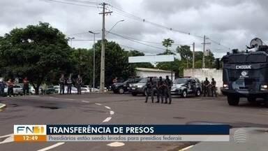 Integrantes de facção criminosa são transferidos para presídios federais - Remoção ocorreu nesta quarta-feira (13).