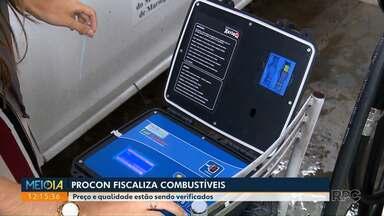 Operação do Procon fiscaliza combustíveis em postos - Fiscais foram às ruas na manhã desta quarta-feira (13).