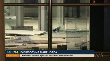Ladrões explodem cofre de agência da Caixa - Crime aconteceu em Piraí do Sul.