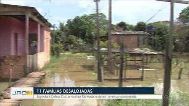 Mais uma família precisou ser retirada pela Defesa Civil por conta da cheia do Rio Madeira - Mais uma família precisou ser retirada pela Defesa Civil por conta da cheia do Rio Madeira.