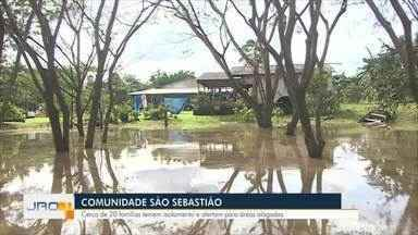 Comunidade São Sebastião: Cerca de 20 famílias temem isolamento e alertam para áreas - Comunidade São Sebastião: Cerca de 20 famílias temem isolamento e alertam para áreas.