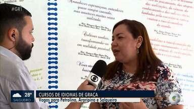 Governo de Pernambuco abre inscrições para cursos de idiomas no Sertão no estado - Há vagas para Petrolina, Araripina e Salgueiro.