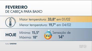 Curitiba tem a temperatura mais baixa de 2019 - semana segue com temperaturas mais baixas nos próximos dias.