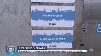 Lei municipal proíbe fumar em locais abertos de Joinville; multa pode chegar a R$ 2,8 mil - Lei municipal proíbe fumar em locais abertos de Joinville; multa pode chegar a R$ 2,8 mil