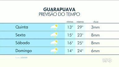 A chuva continua nesta quinta-feira em Guarapuava e região - As temperaturas ficam próximas dos 30 graus.