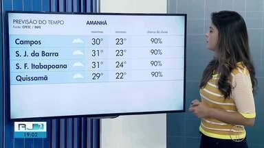 Confira a previsão do tempo para esta quinta (14) no Norte e Noroeste Fluminense - Assista a seguir.