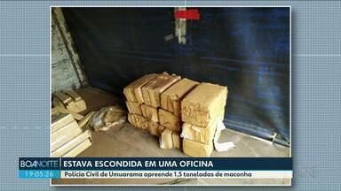 Polícia Civil de Umuarama apreende 1,5 toneladas de maconha - A droga estava escondida dentro de um veículo, em uma oficina da cidade.