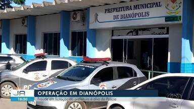 Polícia faz operação para investigar supostas fraudes em licitações em Dianópolis - Polícia faz operação para investigar supostas fraudes em licitações em Dianópolis