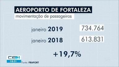 Aeroporto de Fortaleza com movimentação recorde - Janeiro de 2019 teve movimentação maior que janeiro de 2018