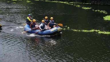 Otaviano Costa faz rafting rio abaixo - Confira!