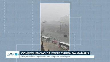 Forte chuva em Manaus causa alagamentos e desabamentos - Mais de 30 ocorrências foram registradas.