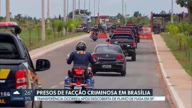 Presos de facção são transferidos para Penitenciária Federal de Brasília - MP pediu transferência após descobrir plano de fuga. Ministério da Justiça não informou quantos presos estão no presídio.
