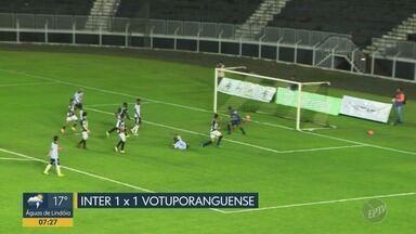 Inter de Limeira continua sem vencer em casa na série A-2 - Empatou em casa contra o Votuporanguense.