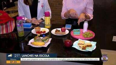 Nutricionista compartilha dicas de merenda para volta às aulas - Veja as dicas.