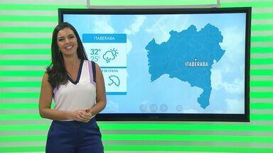 Previsão do tempo: região de Itaberaba terá possibilidades de chuva para esta semana - Confira a informações do tempo com Thaic Carvalho.