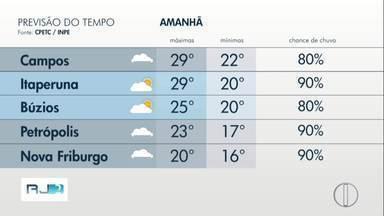 Confira a previsão do tempo para este fim de semana no interior do Rio - Assista a seguir.