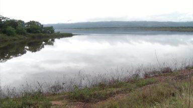 Relatório prevê risco de colapso da estrutura da Barragem da Caatinga, em Bocaiuva - Em 2017 parte do concreto cedeu e foi arrastado pela chuva.