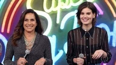 Totia Meireles e Camila Queiroz acertam e Rionegro & Solimões vão ao palco - Faustão recebe a dupla de sucesso