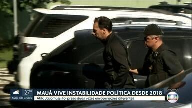 Átila Jacomussi deve reassumir a prefeitura de Mauá hoje à tarde - Ele estava preso desde dezembro de 2018 e foi solto sexta-feira. Átila é suspeito de desviar dinheiro da prefeitura.