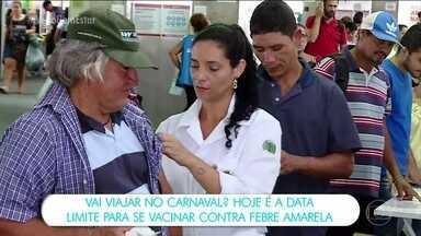 Vai viajar no carnaval? Não esqueça da vacina da febre amarela - Quem vai viajar no carnaval e precisa tomar a vacina da febre amarela deve lembrar que são 10 dias para ela começar a fazer efeito.