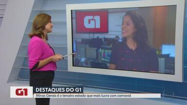 G1 no MG1: Minas Gerais é o terceiro estado que mais lucra com carnaval - Estado só fica atrás de Rio de Janeiro e São Paulo. Pesquisa mostra que 84% da receita gerada com o carnaval ficam com bares e restaurantes.