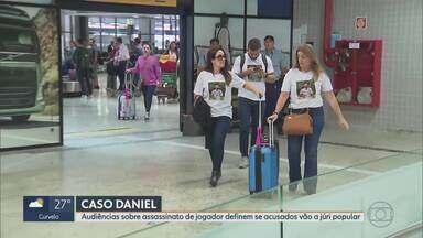 Caso Daniel: Veja como foi o 1º dia de audiências na Justiça - Sete pessoas são rés no processo sobre a morte do jogador, em São José dos Pinhais, no Paraná; depoimentos seguem nos próximos dias.