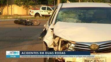 Números de acidente com motos e bicicletas chamam atenção no Tocantins - Números de acidente com motos e bicicletas chamam atenção no Tocantins
