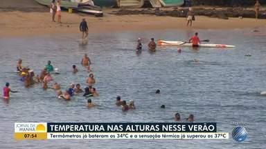 Haja calor: sensação términa passa dos 37 graus em Salvador - O uso do protetor solar é imprescindível nessa época do ano.