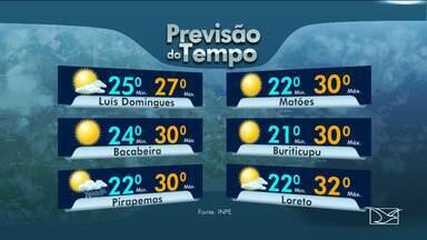 Veja as variações das temperaturas no Maranhão - Confira a previsão do tempo nesta quinta-feira (21) em São Luís e também no interior do estado.