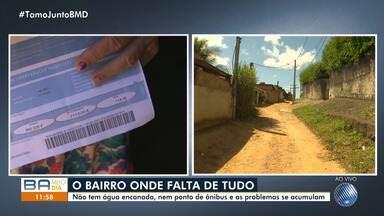 Moradores do Cassange reclamam de diversos problemas na região - Falta água, pontos de ônibus e os problemas só acumulam. A reportagem foi até o local conferir o problema.