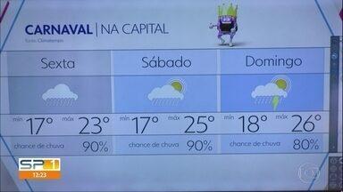 Fevereiro vai terminando com previsão de bastante chuva - Temporais podem atingir também os primeiros dias de carnaval.