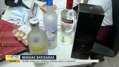 Laboratório de adulteração de bebidas alcoólicas é fechado na Serra, ES - Investigação aponta que bebidas seriam vendidas no carnaval. Uma mulher foi presa em flagrante.