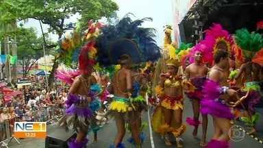 Caboclinhos, tribos de índios e grupos de maracatus se apresentam no Recife - Colorido das apresentações encantou os foliões.