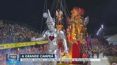 Escola de samba Consulado é a campeã do carnaval 2019 de Florianópolis - Escola de samba Consulado é a campeã do carnaval 2019 de Florianópolis