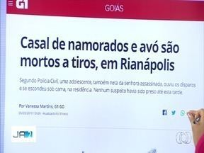 Casal de namorados e avó são mortos a tiros, em Rianápolis - Segundo Polícia Civil, uma adolescente, também neta da senhora assassinada, ouviu os disparos e se escondeu sob cama, na residência. Nenhum suspeito havia sido preso até esta tarde.