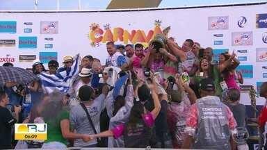 Estação Primeira de Mangueira é a grande campeã do carnaval carioca 2019 - A Mangueira terminou a apuração com 270 pontos. A escola levou para a avenida os heróis esquecidos da história do Brasil.