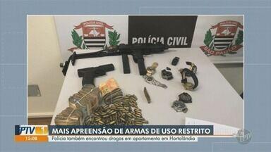 Polícia apreende drogas e armas de uso restrito em apartamento em Hortolândia - Polícia Civil de Campinas (SP) perseguiu traficante famoso da região e apreendeu armas e entorpecentes.