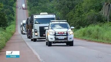 Polícia faz buscas por quadrilha que tentou roubar carga no sul do Tocantins - Polícia faz buscas por quadrilha que tentou roubar carga no sul do Tocantins