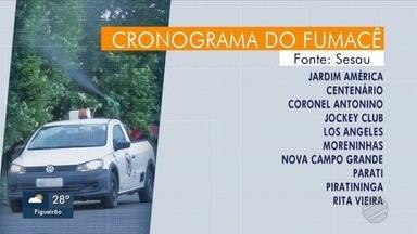 Fumacê passa por dez bairros desta quarta-feira (13), em Campo Grande - Veja o cronograma do inseticida.