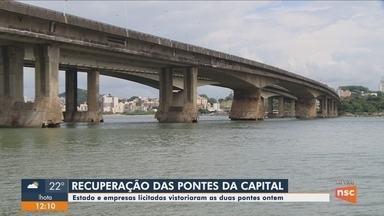 Estado e empresas licitadas fazem vistoria nas pontes de acesso à Florianópolis - Estado e empresas licitadas fazem vistoria nas pontes de acesso à Florianópolis