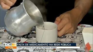Falta de medicamento na rede pública - Outras informações no g1.com.br/ce