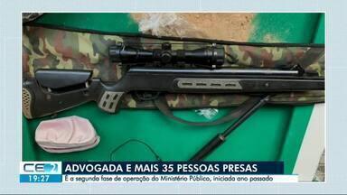 Advogada e mais 35 pessoas presas em operação contra facção criminosa - Ao todo, 60 pessoas foram presas durante a operação e R$ 50 mil em espécie apreendidos