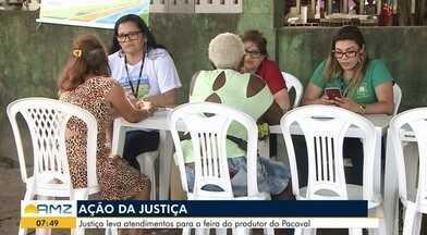 'Ajuda muito bem-vinda', diz feirante ao participar de ação itinerante da Justiça, no AP - Realizado na tarde de quinta-feira (14) na Feira do Agricultor do Pacoval, na Zona Norte de Macapá, ação percorrerá diversos pontos da capital.